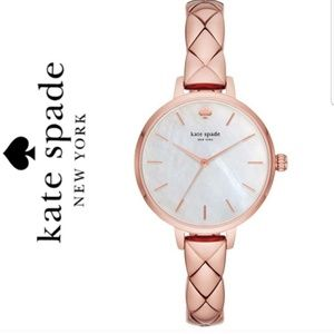 NWT Kate spade rosegold mother of pearl dial watch